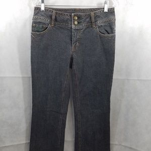 CAbi Contemporary Fit Jeans Style 895R Size 6 Gray